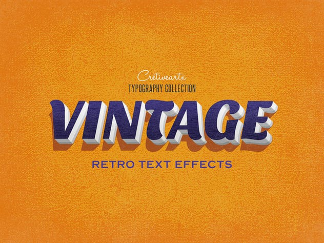 Vintage/Retro Text Effects 7 - product preview 5