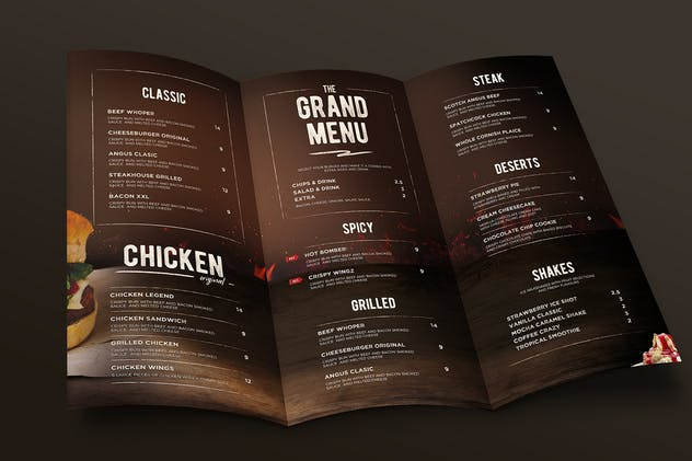 Burger Menu Trifold - product preview 1