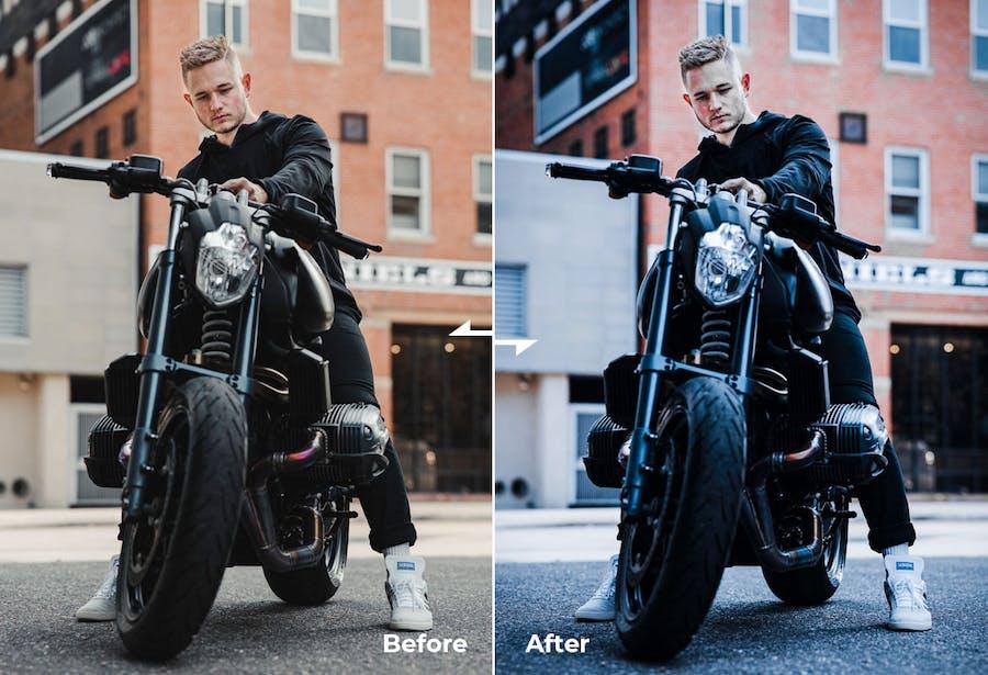 Actions Photoshop & Presets - Steel Dark Style