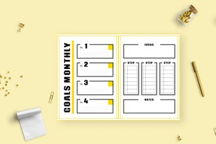 Thumbnail for Kuning – Daily Planner Journal