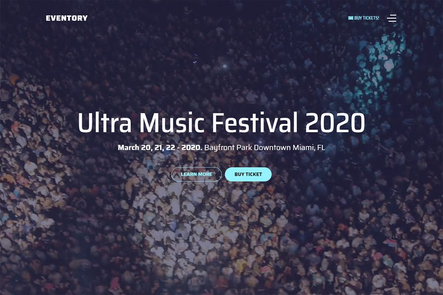 Eventory - Festival & Event Joomla Template - product preview 1