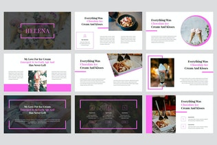 Миниатюра для Елена - Мороженое Google слайды Шаблон