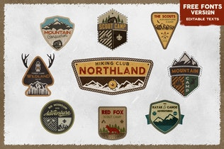 Retro Scouts Badges / Camping Logos / Travel Patch