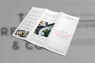 Thumbnail for Restaurant Trifold Brochure Menu