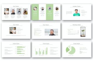 Миниатюра для ГРУППЫ — Творческий бизнес-PowerPoint Шаблон