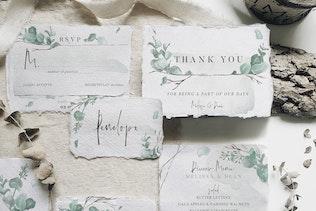 Thumbnail for Watercolor Eucalyptus Wedding Suite