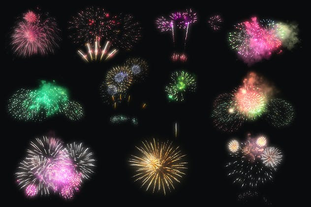 100 Firework Overlays - product preview 15