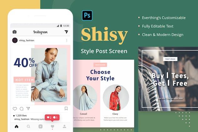 Shisy Style - Instagram Feed Post - product preview 1