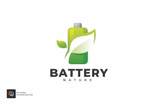 Thumbnail for Battery Nature - Logo Template