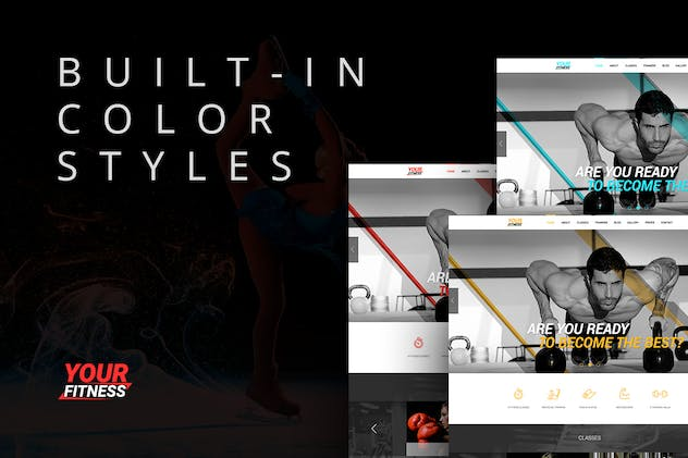 YourFitness — Sport Blog, Fitness Club, Gym Theme - product preview 3