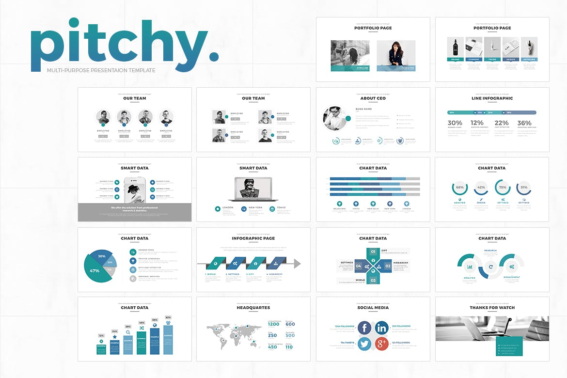 pptx infographics by graphix shiv on envato elements