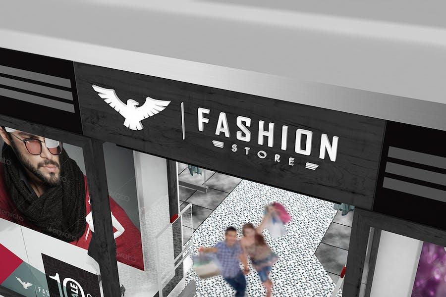 Брендинг Mockup для модного магазина