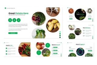Thumbnail for The Vegetables - Google Slide Template