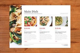 Thumbnail for Deluxe Food Menu + Bonus A4 Flyer