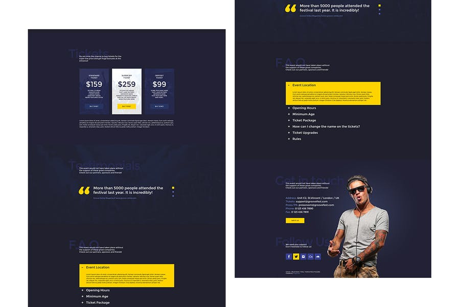 Groove - Music Event / Party Promo Site Template - product preview 2