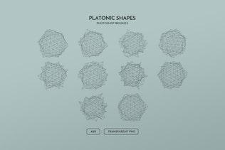 Миниатюра для Платонические полигональные фигуры Photoshop Кисти