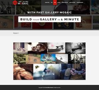 Thumbnail for Fast Gallery Mosaic - Wordpress Plugin