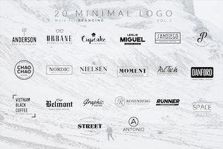 Vista en miniatura para 100 Logotipos Minimalista