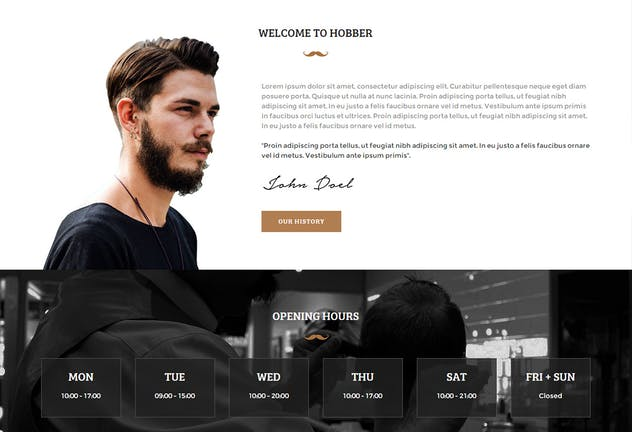 Hobber - Barbershop, Hair & Salon Muse Template YR - product preview 1
