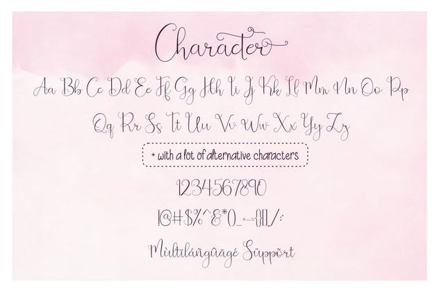 Beauty and Love - Font Duo + Extra - product preview 7