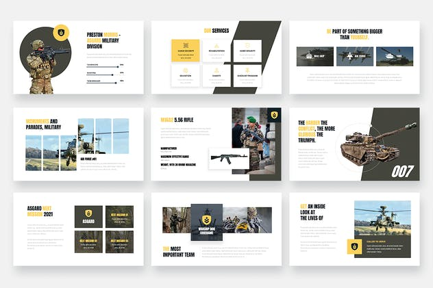 ASGARD - Military & Army Keynote Template - product preview 3