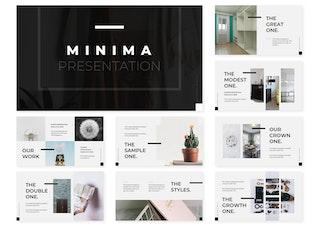 Миниатюра для Minima | Шаблон Keynote