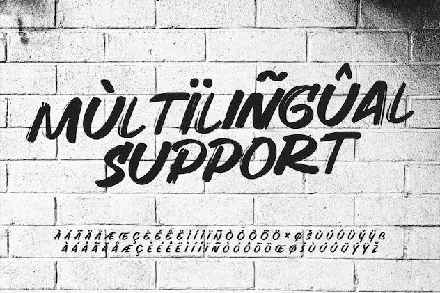 Hunger - Handwritten Brush Font - product preview 3