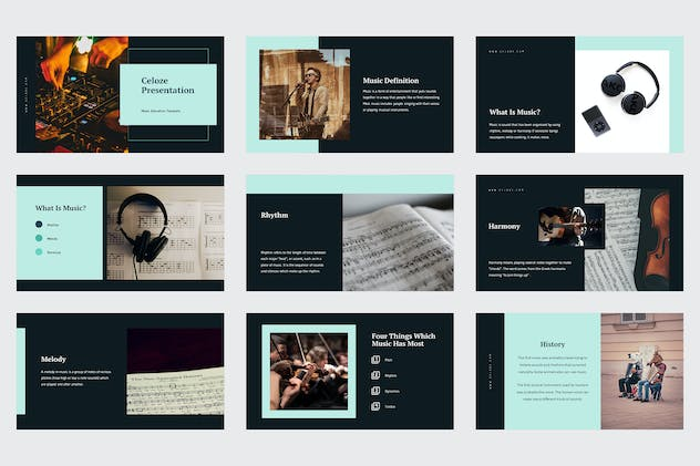Celoze - Learning About Music Powerpoint - product preview 3