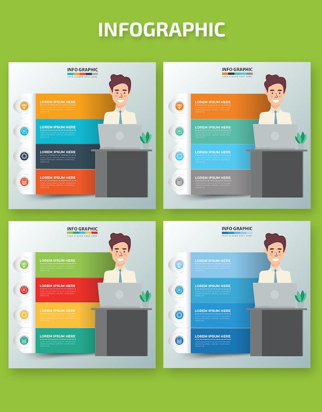 Businessman Infographics Design - product preview 1