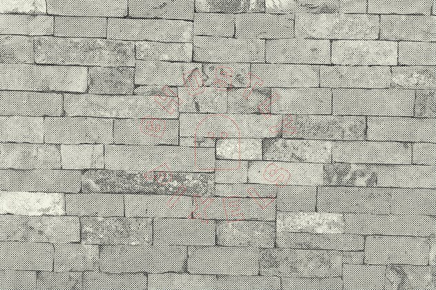 Halftone Brick & Stone Wall Textures - product preview 7