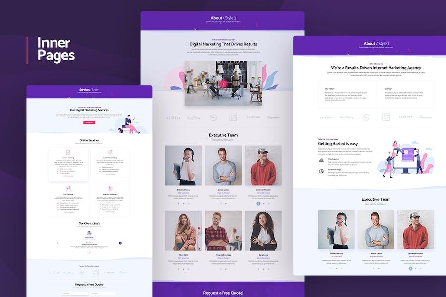 Silion - Digital Marketing WordPress Theme - product preview 2