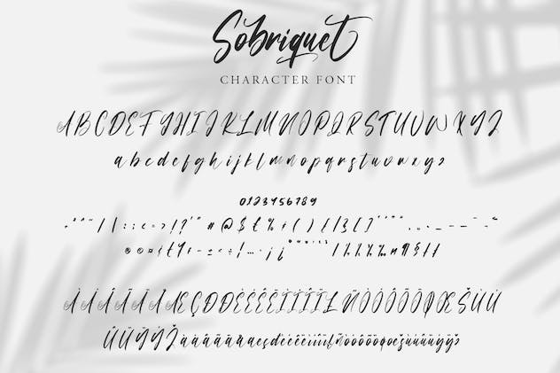 Sobriquet - Modern Calligraphy Font - product preview 8