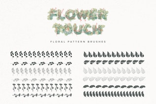 Thumbnail for Flower Touch Procreate Brushes