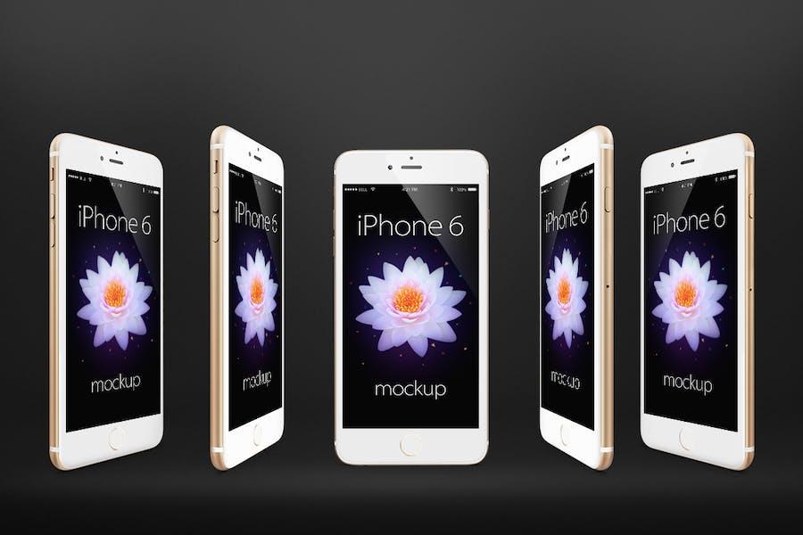 Preview image 3 for iPhone 6 Фотореалистичный Отзывчивый Mock-Ups Vol.2