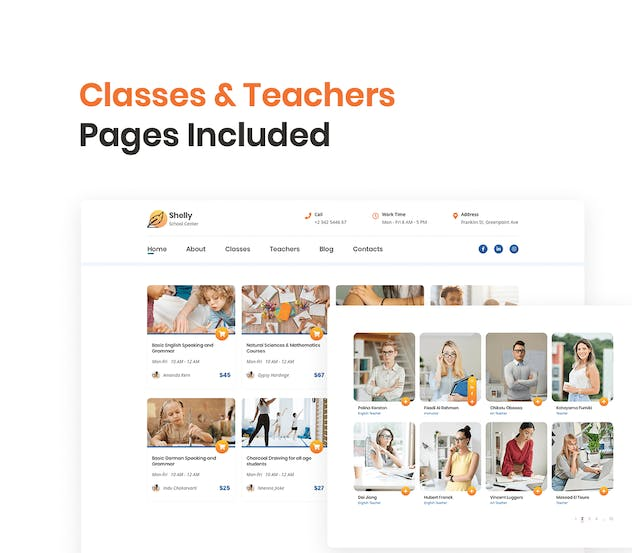 School Website Template - product preview 4