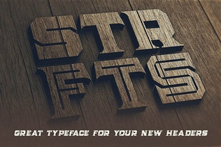 Thumbnail for Strife - Display Font