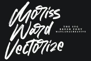 Миниатюра для Шрифт кисти Морис Уорд SVG