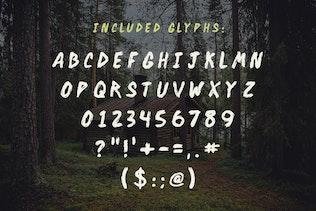 Miniatura para Backwoods Cabin Font