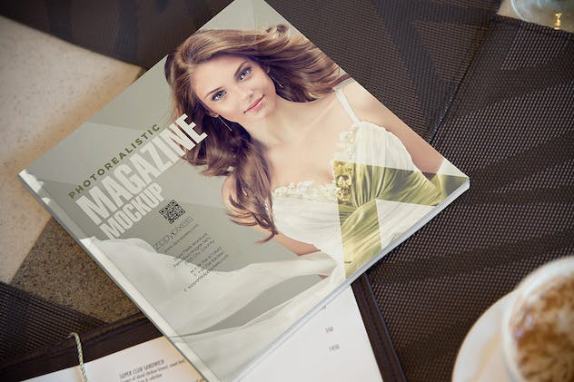 Square Magazine Cover Mockup - product preview 2