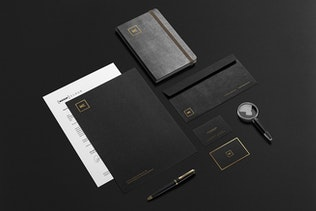 Thumbnail for Premium Stationery Branding Mockup