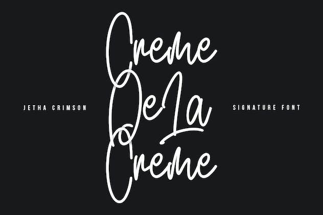 Jetha Crimson Signature Brush Font Typeface - product preview 7