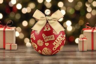 Thumbnail for Christmas Ball Mock-Up