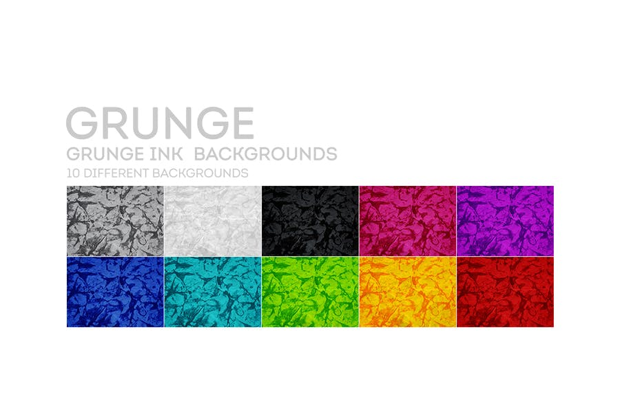 Grunge INK  Backgrounds - product preview 6
