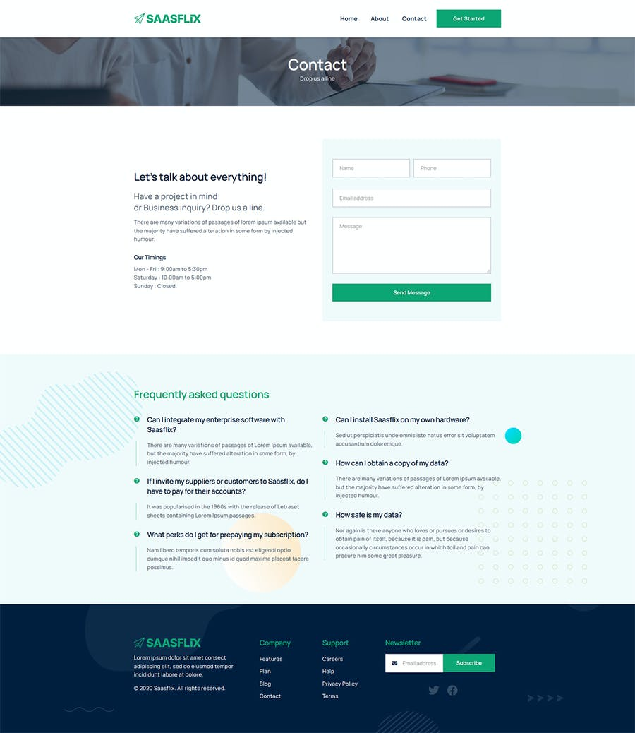 Saasflix SaaS Software Landing Page Template - product preview 0