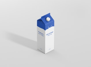 Saft/Milk Mockup - 1L Karton Box