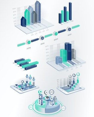 Thumbnail for 3D Corporate Infographic Elements 2