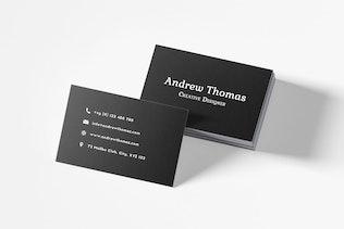 Black Sober Business Card Template V2