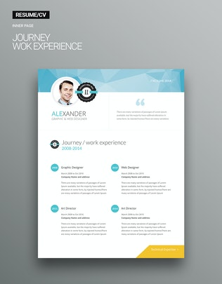 Thumbnail for 6 page Personal Resume v1