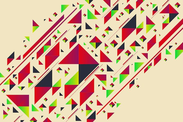 Abstract Triangle Shapes Backgrounds