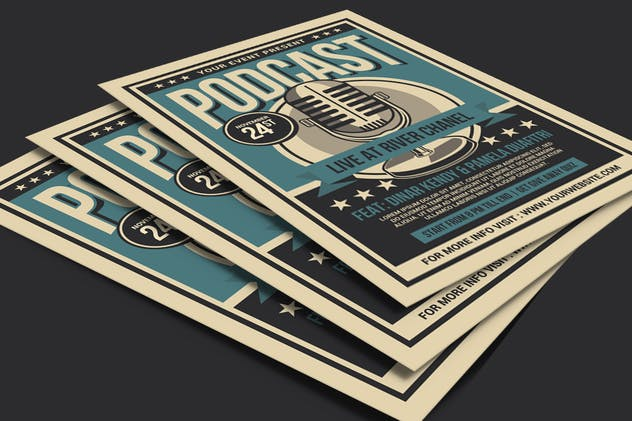 Podcast Live Flyer - product preview 2